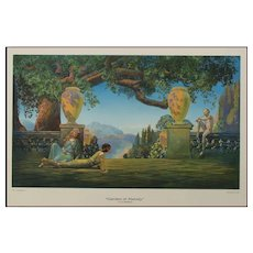 "Lovely ""GARDEN OF MELODY"" Print by Roy Grossman"