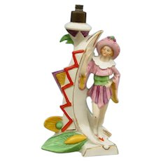 Charming German Art Deco Figural Boudoir Table Lamp