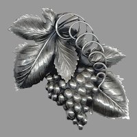 HUGE 3 Dimensional NAPIER Bunch of Grapes Pin