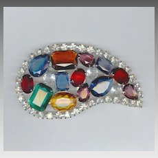 HUGE Spectacular Multi-Color Rhinestone Buckle