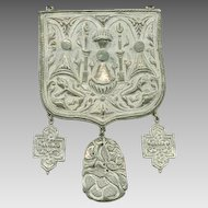 Huge PAULINE RADER Heraldic Style Necklace