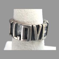 "Gemcraft Sterling Silver ""I LOVE YOU"" Ring"