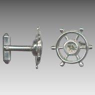 Novelty Compass / Ships Wheel Cufflinks