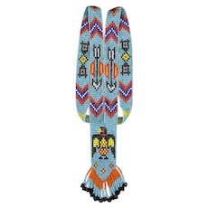 Native American Beaded Necklace Eagle Motif