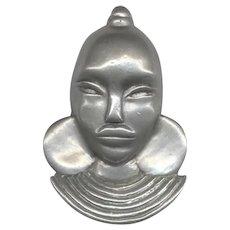 Older Pot Metal AFRICAN Face Dress Clip