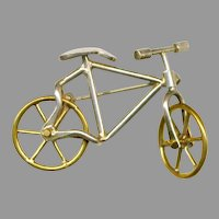 Sterling Silver Novelty Articulated BICYCLE Pin