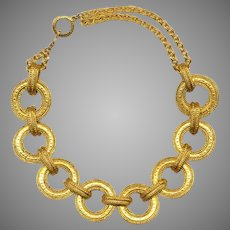 Classic Kenneth Lane Gold Tone Rings Necklace