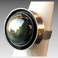 Modernist Kauna Koru Labradorite Sterling Silver Ring