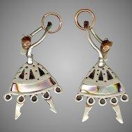 Too Cute Mexican Sterling Dancing Lady Earrings