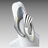 Signed ZAGAL TASCO Modernist Sterling Silver Ring