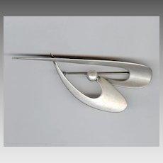 Francisco Rebajes Modernist Sterling Silver Pin / Brooch
