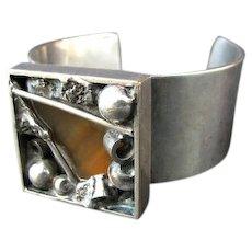 Modernist Brutalist WIGGERS Denmark Cuff Bracelet