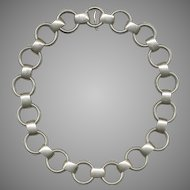 NAPIER Modernist Sterling Silver Necklace