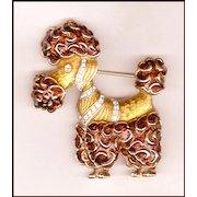 Kramer Bi-Color Enamel Poodle Pin