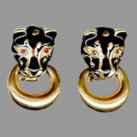 Too Cool Black Panther Clip Back Earrings