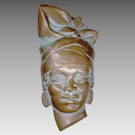 Emile Monier West African Tribal Face Pin