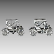 3 Dimensional Model T Vintage Car Cufflinks