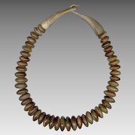 MONIES Chunky Wood Bead Necklace with Wood Hook Clasp