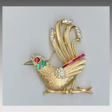 Exceptional MINT Trifari Bird Pin / Brooch