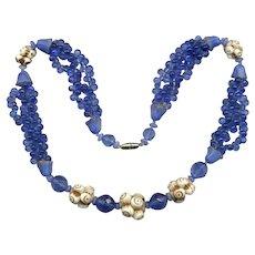 RARE Unusual CZECH Art Deco Glass Necklace