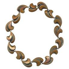 REBAJES Modernist Copper Choker Necklace