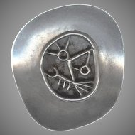 Modernist Signed Novitt Sterling Silver Pin