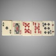 Novelty Carved Bone Playing Cards Bracelet