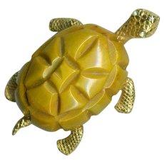 Adorable CADORO Bakelite Turtle Pin