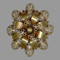 JOSEFF of Hollywood Abstract Flower Pin