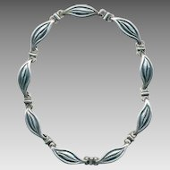 Signed EMMA TAXCO Sterling Silver Necklace