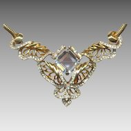 Regal REJA Sculptured Rhinestone Necklace
