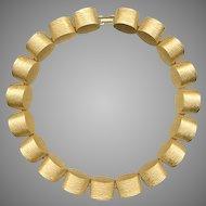 Trifari Chunky Gold Tone Links Necklace