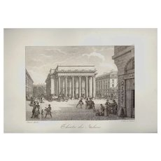 Early Lithograph by Bacler D'Albe Theatre des Italiens