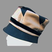 Mr. John Jr. Black & Tan Satin Hat