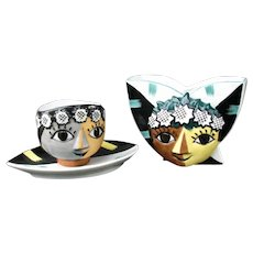 3 Piece PICASSO Inspired Porcelain Face Set