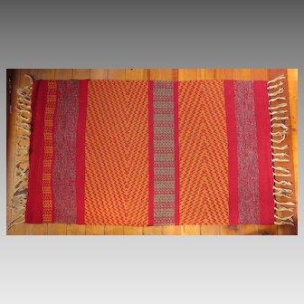 Beautiful Artisan Handwoven Wool and Linen Area Rug
