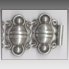 Heavyweight Handmade Early Mexico Mexican Silver Bracelet