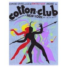 Fabulous ART DECO Style Cotton-Club Woven Panel