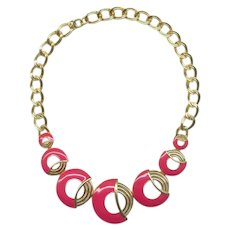 Trifari Art Deco Style Enameled Necklace