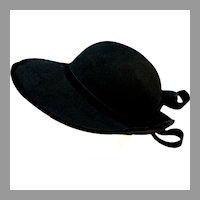 Dramatic MR. JOHN Wide Brimmed Black Felt Hat
