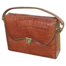 Vintage Designer MARIE LIVOTE Alligator Bag / Purse