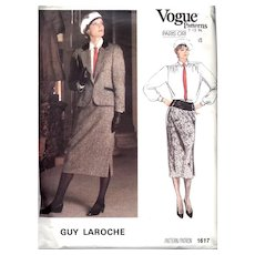 Guy Laroche for Vogue Suit & Blouse Pattern 1985