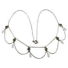 Antique Glass Paste Festoon Necklace