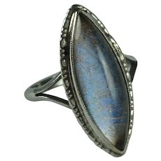 Art Deco Sterling Silver Butterfly Wing Vintage Ring