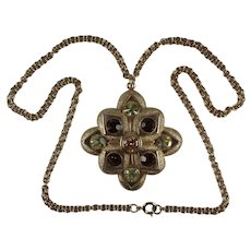 Vintage Sarah Coventry Rhinestone Pendant Necklace