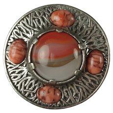 Vintage Miracle Celtic Faux Agate Brooch