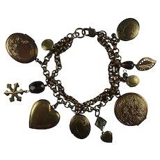 Vintage Photo Lockets Charm Bracelet