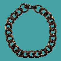 Vintage Solid Copper Curb Chain Link Bracelet