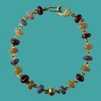 Vintage 1980s Columbian Semi Precious Stones Bracelet Galeria Cano