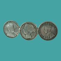 Queen Victoria Edward George Silver Coins Brooch